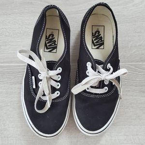VANS Black Authentic Shoe Size 6